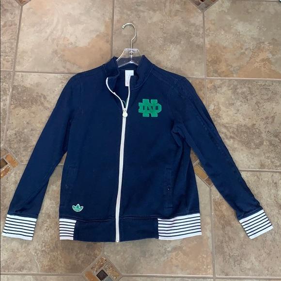 adidas Jackets & Blazers - Adidas Notre Dame zip up sweatshirt jacket
